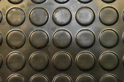 Black 1.2m & 1.5m Wide Studded Quality Rubber Matting Flooring 3mm Thick cheap