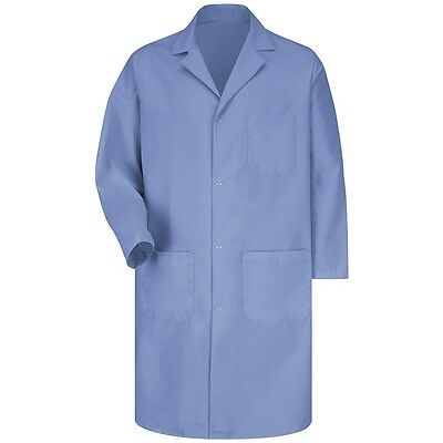 Lab/Shop Coat Red Kap 5 Button Medium Blue KP14MP, Cotton Blend, Unisex