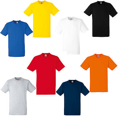 2 Pack Fruit Of The Loom Heavy Cotton T Shirts 8 Colours S M L Xl Xxl Xxxl
