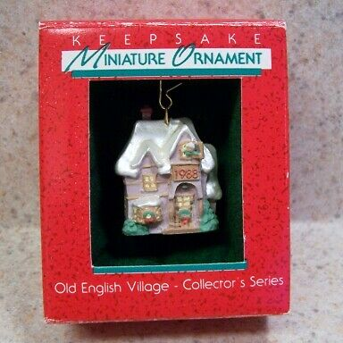 1988 Hallmark Miniature Ornament - Old English Village #1, The Family Home