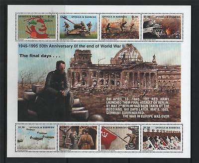 Antigua 1995 Anniv Of WWII End SG 2108/15 MNH
