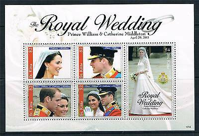 St Kitts 2011 Royal Wedding 5v sheet 1 MNH