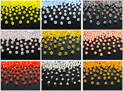 Freeshipping 100Pcs Top Quality Czech Crystal Faceted Bicone Beads 4mm Pick
