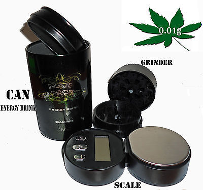 NEW CAN DIGITAL SCALE 0.01G x 100G POCKET HERB GRINDER STASH CAN DIGITAL SCALES