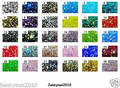 Freeshipping 100Pcs Top Quality Czech Crystal Faceted Bicone Beads 3mm AB Colors
