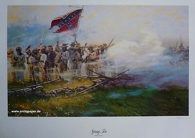 Gallon Dale Spring fire Civil war Historical Art Print Limited Edition 1864