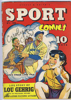Sport Comics #1 Street and Smith 1940 Lou Gehrig story