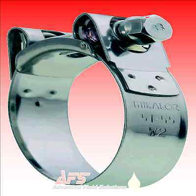 W2 MIKALOR Stainless Supra Heavy Duty Hose Clamp Exhaust Pipe Turbo Clamps Norma