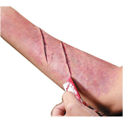 Fake Cut Wound Scar Prosthetic Special Effect Blood Prop Latex Fx Cruel Reel