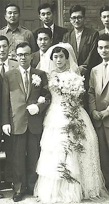 Vintage Photo: Large Affluent South Korean Wedding Party 1959