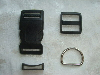 1'' -Dog collar hardware kits-5 sets, work with 1'' (25mm) webbing-free shipping