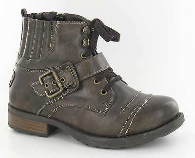 WHOLESALE Boys Brown PU  Lace and Buckle Boots 13 -5 14 Pairs  N2016  RRP £19.99