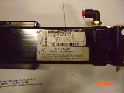 Tolomatic Pneumatic Rodless Band Cylinder with Slide BC212#146326