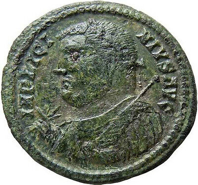 Licinius I AE Follis Camp-gate Authentic Ancient Roman Bronze Coin