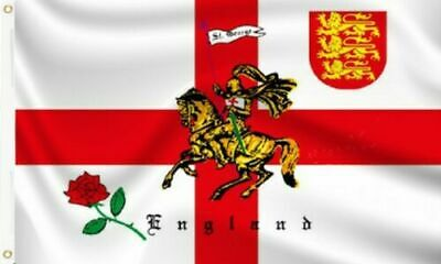3' x 2' Rose Lion St George Cross Knight Flag English England World Cup Banner