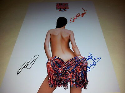 """Blue Mountain State Cast X3 Pp Signed Poster 12""""x8"""" Darin Brooks"""