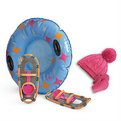 American Girl Chrissa's SNOW GEAR shoes tube hat mittens SET for Chrissa Doll