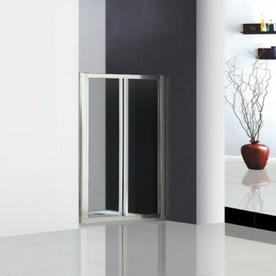 760x1850mm Double Pivot Shower Door Enclosure Inward Space Saving A