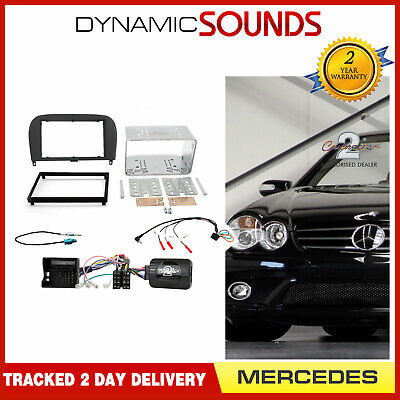 Connects2 CTKMB08 Car Stereo Double Din Radio Fitting Kit for Mercedes SL R230