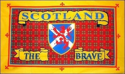 3' x 2' Scotland The Brave Flag Scottish St Andrews Cross Lion Rampant Banner