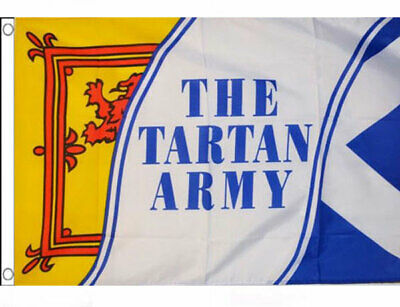 3' x 2' The Tartan Army Flag Scottish Scotland St Andrews Lion Rampant Banner