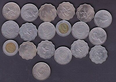 19 Different Hong-Kong Coins,