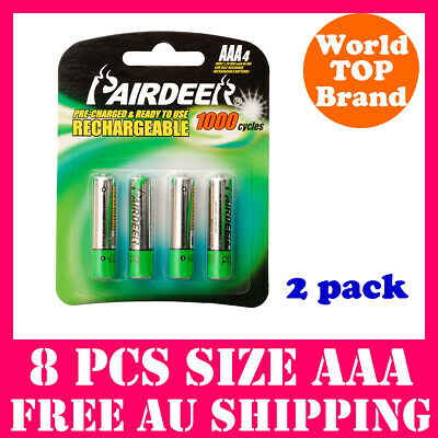 8x Ni-MH Rechargeable Battery AAA Low Self Discharge Batteries Pre-charged