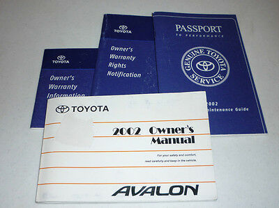 2002 toyota avalon owners manual 11 99 picclick rh picclick com 2000 Toyota Avalon 2002 toyota avalon owners manual