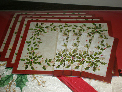Lenox Holiday 8 Piece Set 4 Placemats 4 Napkins New In Package