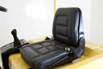 Forklift Truck Seat Black Pvc -Cat Hyster Jungheinrich Manitou Yale Crown Nissan