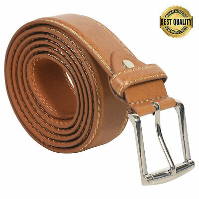 """Belt Mens Big And Tall Jeans New Tan  Leather Size 50"""" Stylish Casual Belt"""