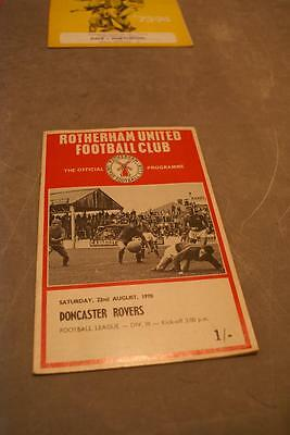 Rotherham v Doncaster Rovers 22 August 1970