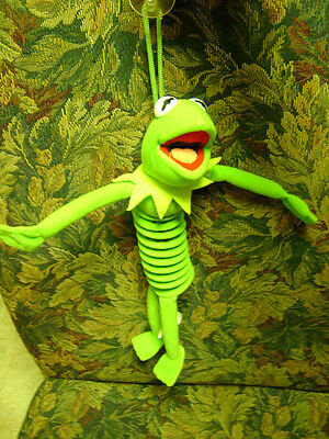 Kermit the Frog Doll    Muppets  Rare Slinky  with Suction Cup