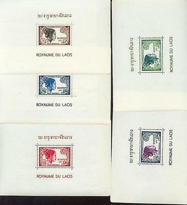Laos 1952 Blocks13-17 ** (A1223