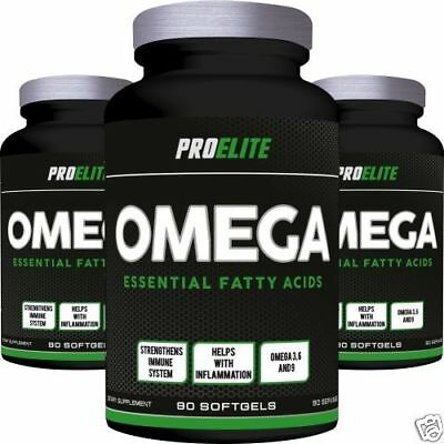 Pro Elite Omega 3 6 9 Essential Fatty Acids 90 x 1000mg Softgels + FREE DELIVERY