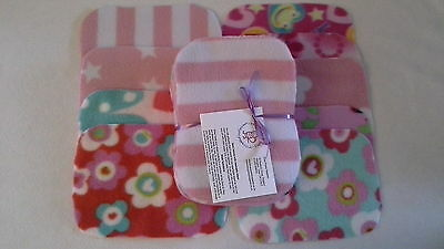 Easy Peasy value washable baby wipes x 20 girl prints Fleece Washable Wipes