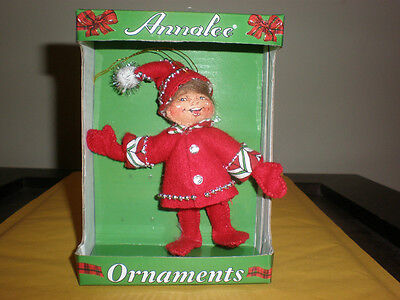 Annalee Christmas Elf Ornament New In Box