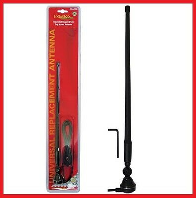BLACK RUBBER DUCK AM/FM RADIO ANTENNA WITH CABLE suits 4x4/CAR/TRUCK/CARAVAN