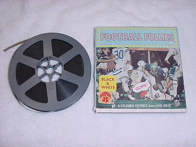 VINTAGE 1970 Columbia Pictures Football Follies NFL 8MM Home Movie, SUPER COOL!
