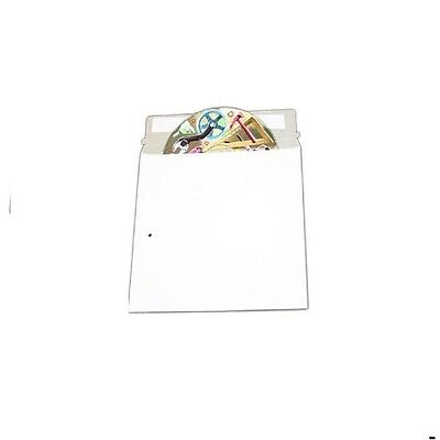 "50 CD DVD Media Pacakaging White Cardboard Envelope Self Adhesive Mailers 6""x6"""