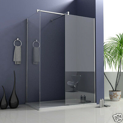 Aica 1700x900mm Walk In Shower Enclosure Wet Room Screen Stone Tray Easyclean Q