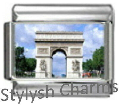 FRANCE PARIS ARC de TRIOMPHE Photo Italian Charm 9mm - 1 x TT034 Single Link