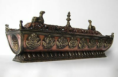 "Tibetan Buddhist Artistic Temple Shaped Incense Burner 10"" - Nepal"