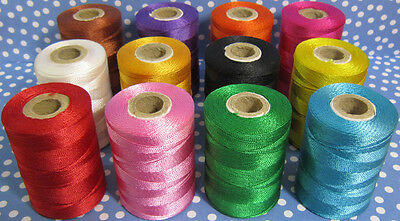 12 Extra Strong Nylon Sewing Thread Spools *Large 200 meters Heavy Duty Spools