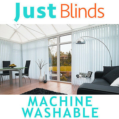 Vertical blinds made to measure - white or cream machine washable vertical blind