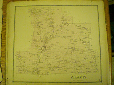 Original 1866 Map Town Of Maine Broom County Ny With Landowners Listed