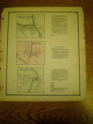Original 1866 Map Of Whitneys Point Triangle Upper Lisle Ny Business Directory