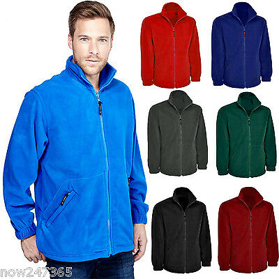 Mens Premium Regular Fit Fleece Jacket Size XS to 4XL Thick 380gsm Warm