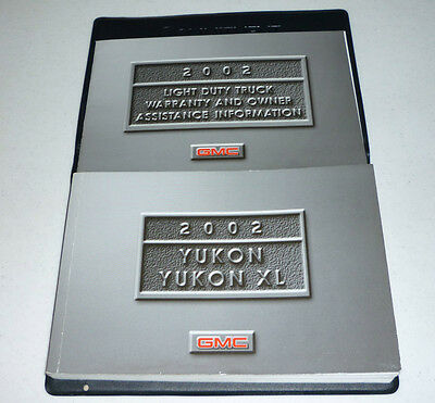 2002 gmc yukon owners manual 02 yukon xl set w case 22 39 picclick rh picclick com 2002 GMC Yukon XL Interior 2005 GMC Yukon XL Gold