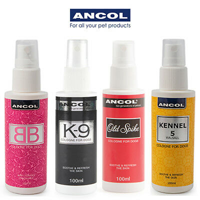 Ancol Dog Cologne Perfume Deodorant K9 BB Old Spike Luxury Finishing Spray Mist
